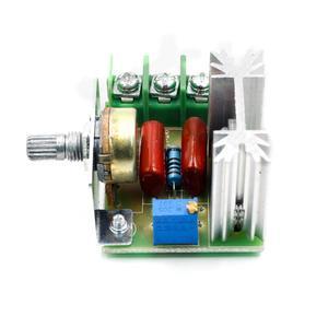 2000 Вт регулятор напряжения переменного тока 50-220 В двигатель высокой мощности регулятор скорости бесщеточный электронный тиристорный диммер терморегуляция