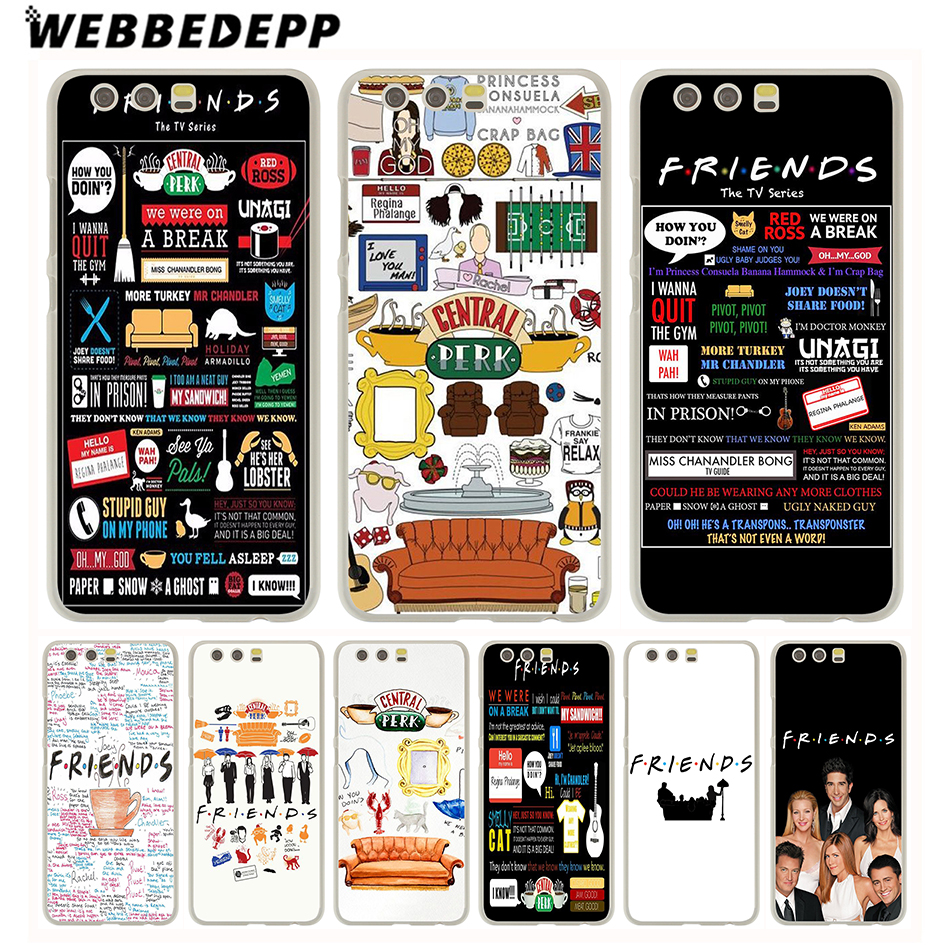 WEBBEDEPP Friends TV Show Funny Central Perk Park Hard Case for Huawei P30 P20 Pro smart P10 P9 Lite 2016/2017 P8 Lite 2015/2017 image