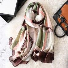 REALSISHOW Scarves Women Winter Scarf 2019 Spring Fashion Silk Long Ladies Designer Luxury Shawls and Wraps