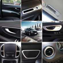 left hand drive car ! Accessories Car Full Kit  Interior Cover Trim Decoration  22pcs  for Mercedes-Benz Vito (W447)  2014-2017