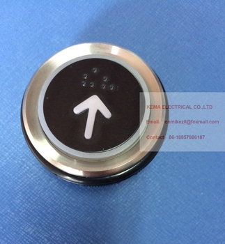 White and black colour AK-22 MTD330 Elevator push button