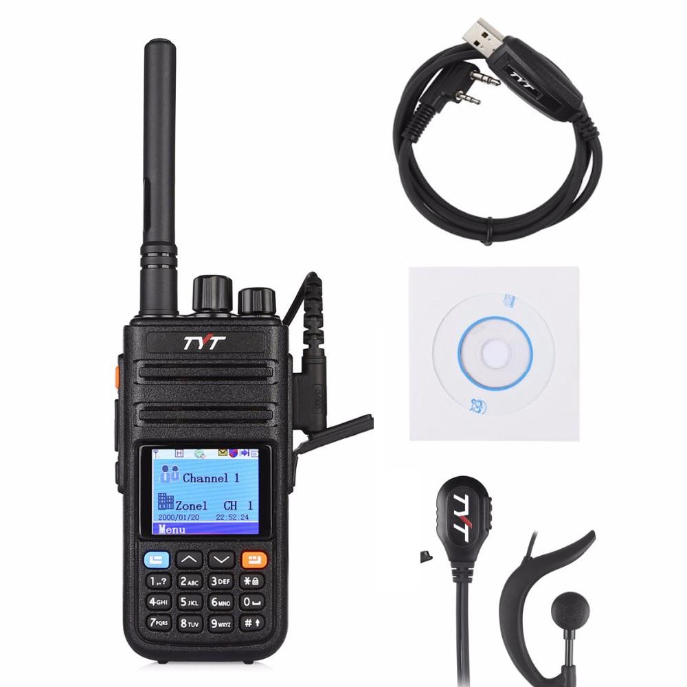 Cable TYT MD-380G DMR *GPS* Digital Analog VHF Two way Radio Walkie Talkie