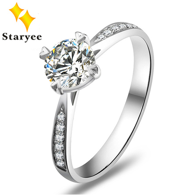 STARYEE Genuine 14K White Gold 1 Carat Forever One Moissanite Gold Rings For Women Fashion Gold Ring Free Shipping
