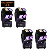 TIPTOP 4 Units Small 90W Moving Head Light 8x10w Black 4 In1 RGBW Colors Disco Party
