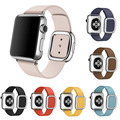 Magnetic Modern Buckle Genuine Leather Band for Apple Watch Series 2 Strap For iWatch 1st 2nd Wristband Silver Rose Gold Buckle