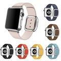 Moderna magnética hebilla de banda de cuero genuino para apple watch series 2 Correa Para iWatch primero segundo Pulsera de Plata Oro Rosa hebilla