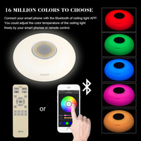 LED Modern Celling Lighting Light RGB Dimmable 80W 220V With APP Control Smart Bluetooth Led Music