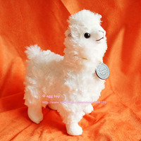 1pcs 25cm Cute White Alpaca Plush Toy Japanese Soft Alpacasso Baby 100 Plush Stuffed Animals Alpaca