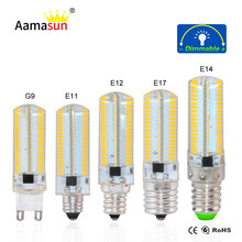 E11 E12 E14 E17 G9 Corn Light SMD4014 152Leds Lampada Led Lamp 127V 110V 100V dimmable Crystal Candle chandelier Silicone Lights()