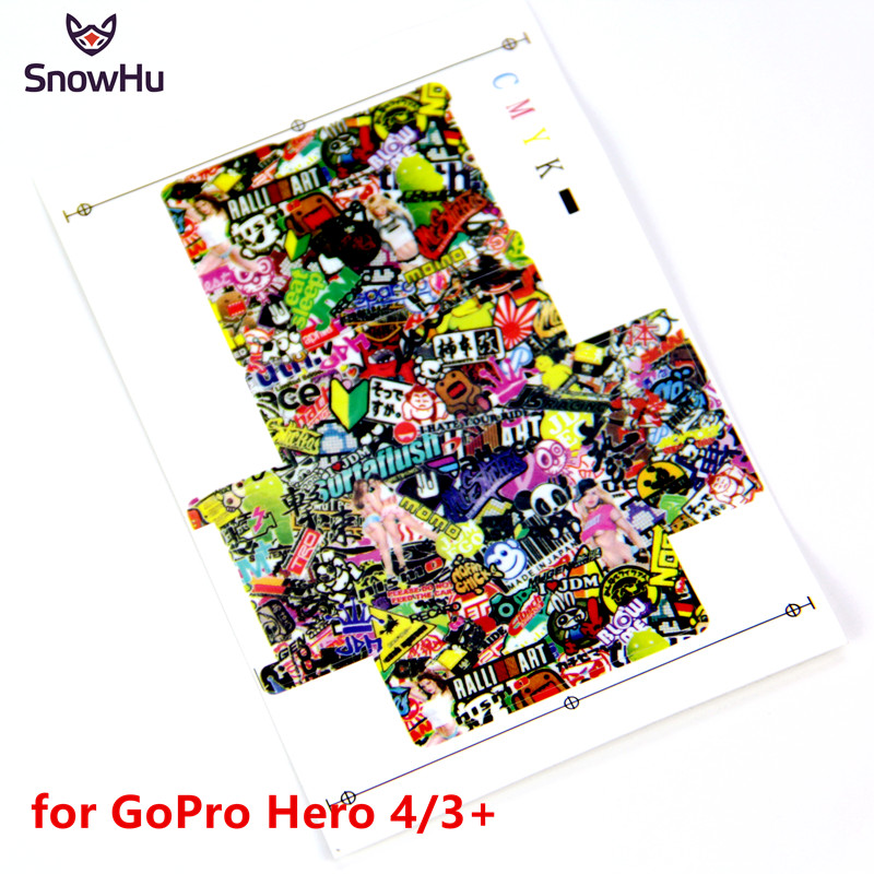 SnowHu High quality Color Drawing for GoPro Sticker Body Cam sticker For Gopro Hero 4 3+ ...