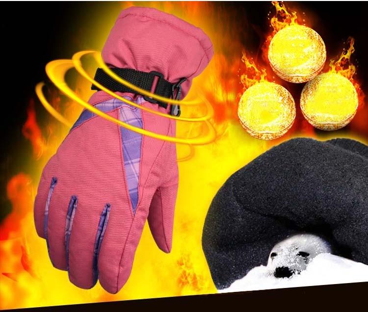 GLV867 female Ski winter font b gloves b font warm velvet thickening thermal cycling font b