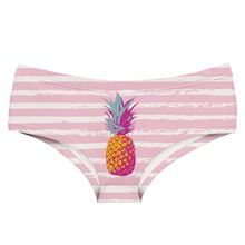 LEIMOLIS PINEAPPLE PAINT STRIPE funny print sexy hot panties female kawaii Lovely underwear push up briefs women lingerie thongs
