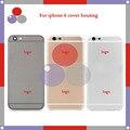 Высокое качество Для Iphone 6 6G Назад Крышка Корпуса Крышка Батарейного Отсека Дверь Задняя Крышка Белый Черный Золото Крышка Бесплатная Доставка