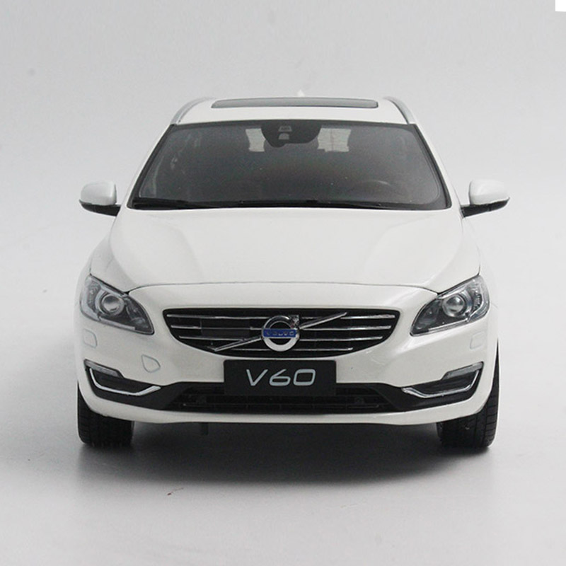 1:18 Diecast Model for Volvo V60 2016 White SUV Alloy Toy Car Collection premiumx 1 43 yuan bao 1968 volvo 164 rich 164 alloy models prd247