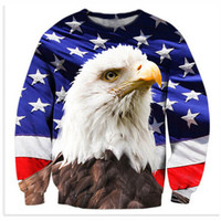 Owl American Flag 3D Print Casual Hoodies Sweatshirts Men Women Warm Clothing