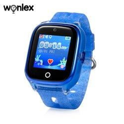 Wonlex dzieci inteligentne wifi zegarek wodoodporny IP67 pływanie sportowy zegarek SOS pomoc pozycjonowanie gps poręczny Anti lost SeTracker KT01 w Inteligentne zegarki od Elektronika użytkowa na