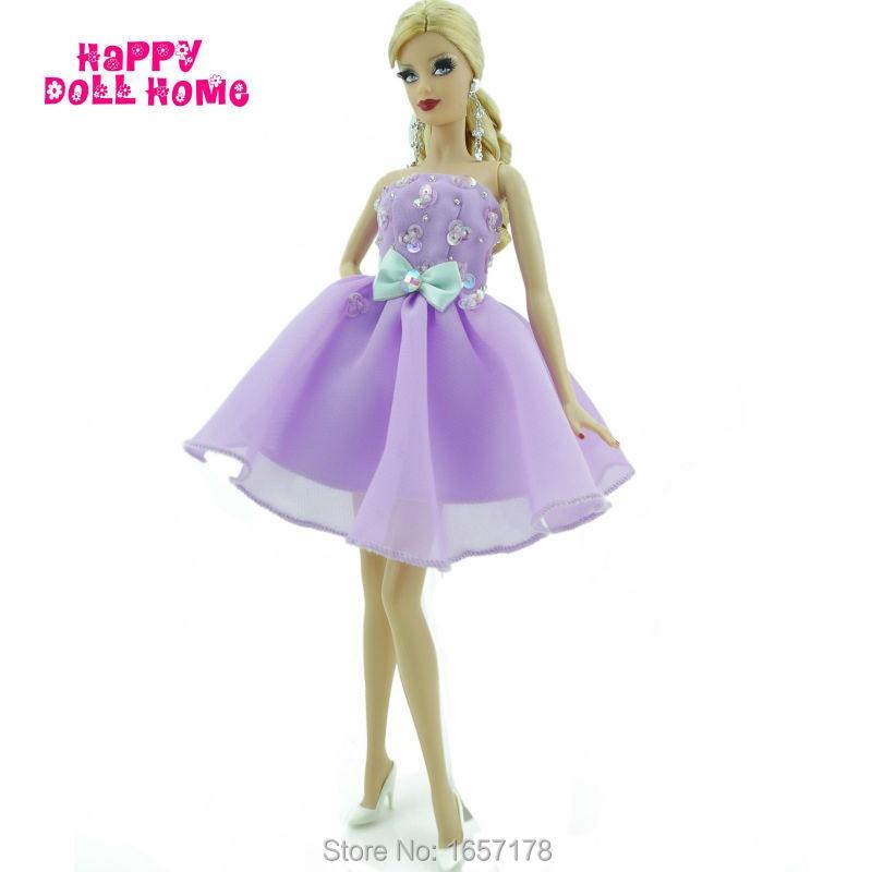 Ручной работы вечерняя платье без бретелек Мини платье Свадебная вечеринка юбка с бантом Бусины Одежда для куклы Барби Kurhn FR подарок