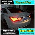 AUTO. PRO 2011-2014 Para Hyundai Sonata luzes traseiras do carro styling Para Hyundai Sonata 8 luzes traseiras drl lâmpadas luzes de nevoeiro traseiro estacionamento