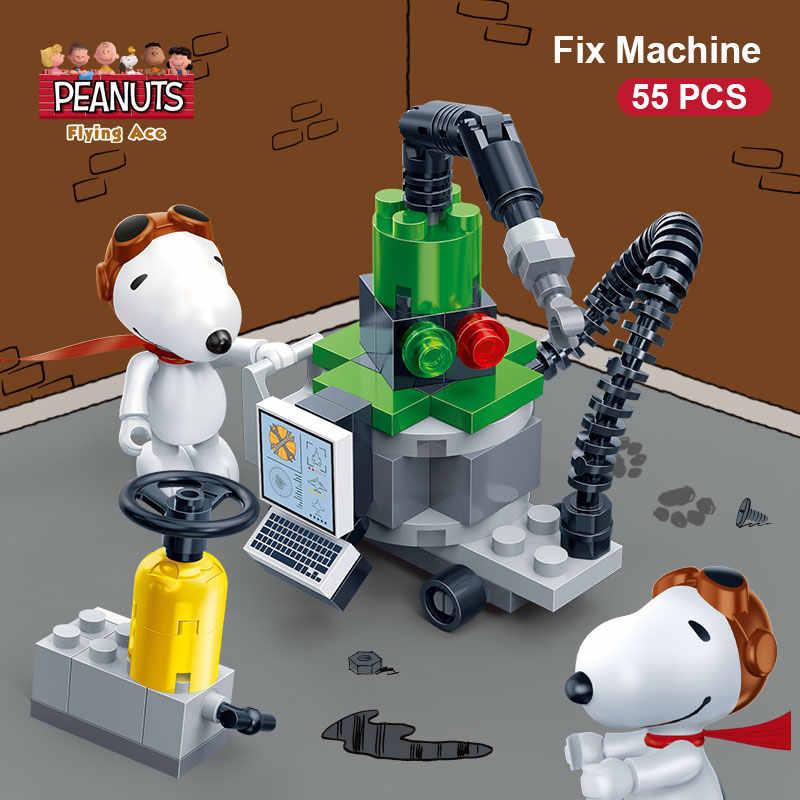 BanBao 7525 IP Snoopy арахис Fix машина пластиковые строительные блоки игрушки для детей, для ребенка, Обучающие модели DIY Кирпичи