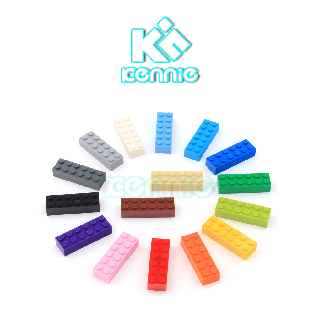 285pcs lot Kennie NO 44237 Bulk color Parts bulk 2x6 high brick Particles Classic Small Building