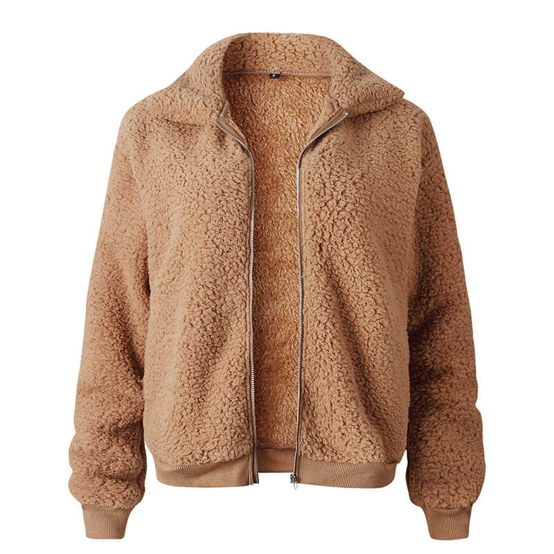 Autumn Jacket Women Oversized Faux Fur Short Basic Jackets Female Soft Loose Casual Women Coat Outerwear Plus Size 2XL KDR137