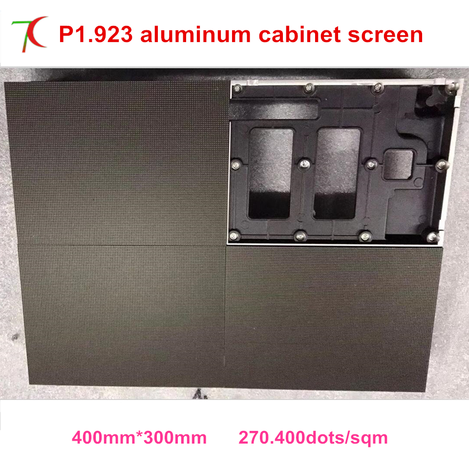 P1.923 indoor 400*300mm die-casting aluminum cabinet led display screen ,smallest pitch, ...