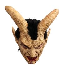 Lucifer Horn masque latex Masks Halloween Costume Scary demon devil movie cosplay Horrible mask Adults Party props(China)