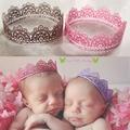 Детские Кружева Корона Фотография Опора Девушка Королева Принцесса День Рождения Корону, новорожденный новорожденный фотографии реквизит новорожденных волос аксессуары Тиара