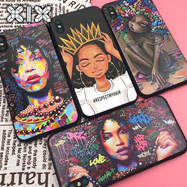 African Girl Art Soft TPU Case – iPhone