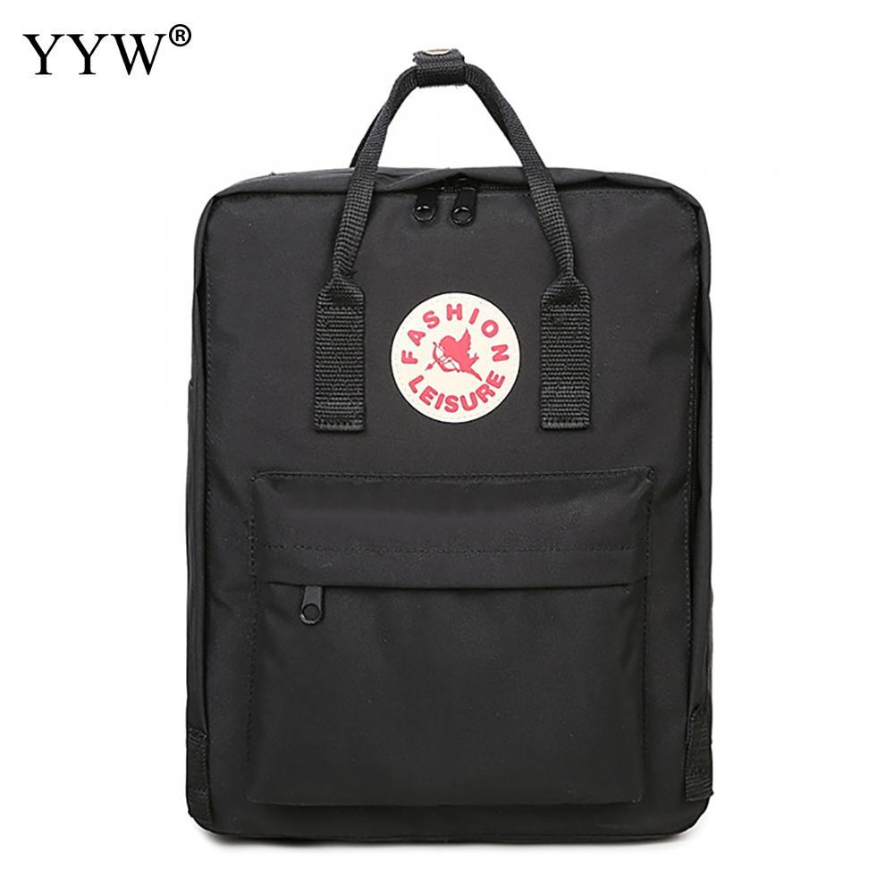 Oxford Waterproof Black Backpacks Men Women Unisex Square Casual School Bags Large Capac ...