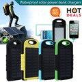 Fiable y de Alta Capacidad de Polímero de Litio 10000 mAh Cargador Solar Dual USB Power Bank Batería Externa Portátil A Prueba de agua