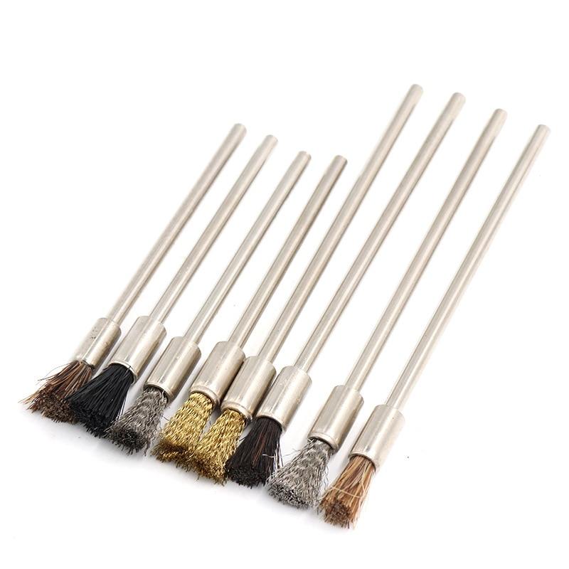 ZtDpLsd 1Pcs 3.0mm Shank 75mm/100mm Steel Wire Brushes Dremel For Rotary Tool Polishing Brush Polish Metal Electric Grinder Tool|Abrasive Tools| - AliExpress