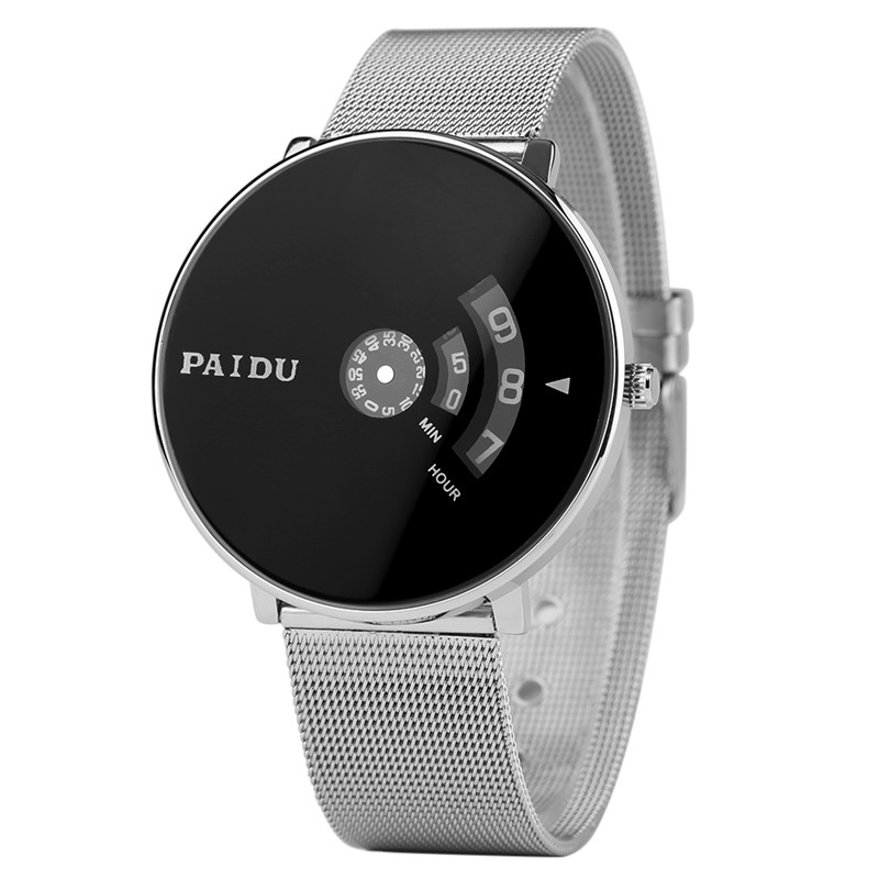 PAIDU Sport Fashion Mens Quartz Stainless Steel Wrist Band Modern Simple Watches Stylish Clock Gifts for Men Women reloj