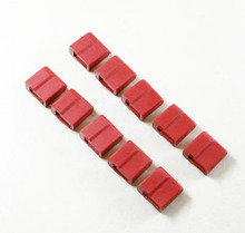 T Plug Male Head Protective Sleeve Cover Protector Deans Plug Connector 10pcs/Lot RED Rubber T plug Protector