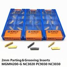 20PCS MGMN200 G NC3030 Carbide Insert grooving carbide inserts CNC lathe tool turning tool cnc tool