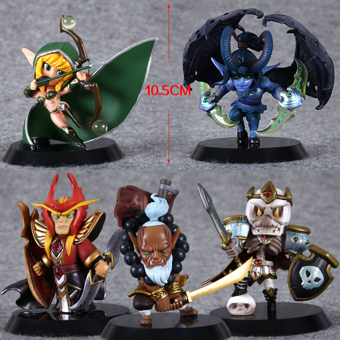 Free Shipping 5pcs Cute 4  DOTA 2 Jugg Wraith King WR Sil Set 2nd Ver. 10cm Boxed PVC Action Figure Model Toy (5pcs per set) free shipping cute 4 nendoroid luck star izumi konata pvc action figure set model collection toy 27 mnfg032