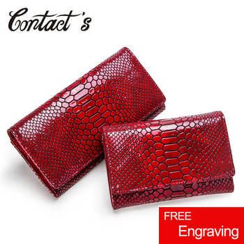 Luxury Brand Women Clutch Wallets Genuine Leather Snake Pattern Print Long Coin Purse Female Cell Phone Holder Bag Dollar Price - DISCOUNT ITEM  37% OFF All Category
