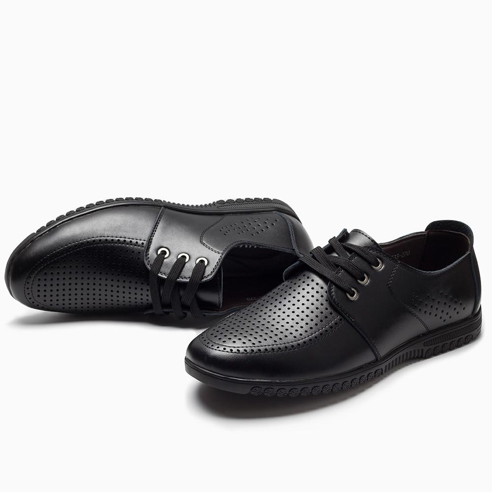 2018 heren casual lederen schoenen nieuw vrijetijdsbestek mannen - Herenschoenen - Foto 5