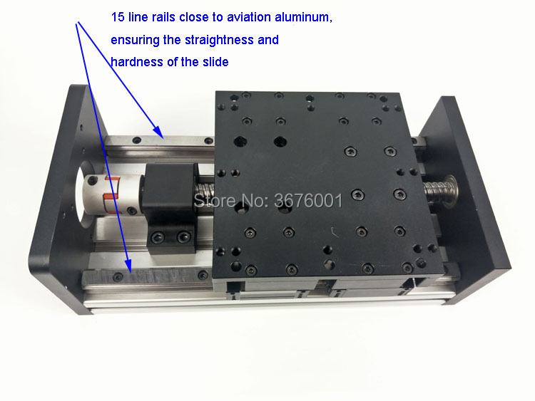 GX150 1605 Ballscrew 600mm Effective Travel Rail Linear Guide Moving Table Slide Module Motion Without Motor