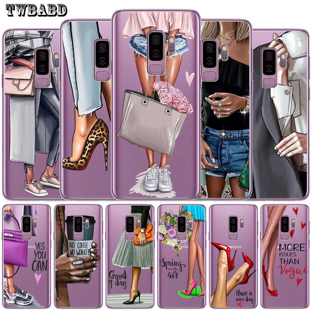 ファッション女性サムスンギャラクシー S9 三星 S8 S10 プラス S7 S6 エッジ S10 Lite 注 8 9 ソフト保護カバー小箱