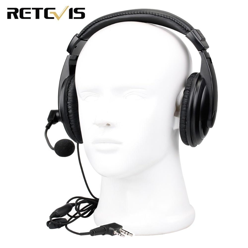 Adjustable Retevis EHK004 2 Pin Headset Earpiece For Kenwood Retevis H777 RT22 RT24 RT5R RT3 RT81 Baofeng UV-5R Walkie Talkie