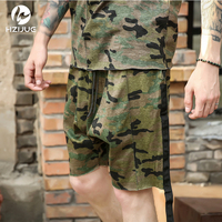 2017 New Arrival Summer Mens Camo Camouflage Plus Size Shorts Justin Bieber Clothes Kanye West Tyga