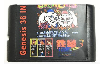 Sega Genesis 용 Sega Mega Drive 용 최신 36in 1 게임 카트리지 16 비트 MD 게임 카드