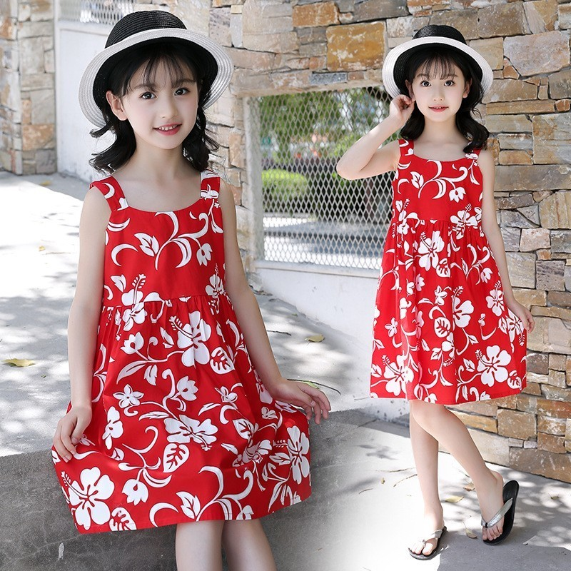 summer 2018 little girls sleeveless dress baby clothing