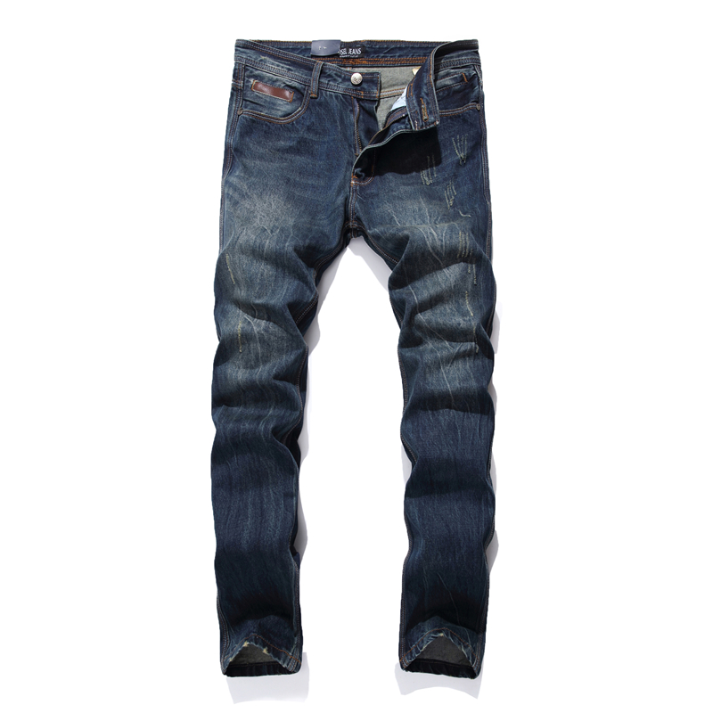 Fashion Men`s Jeans 29-40 High Quality Straight Fit Printed Designer Logo Jeans For Men Famous Brand Dsel Jeans Trousers male F7 patch jeans ripped trousers male slim straight denim blue jeans men high quality famous brand men s jeans dsel plus size 5704