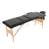 Abody Bed 3 Fold Portable Massager Table 84''L Therapy Adjustable Massage Bed Facial SPA Bed Tattoo Beauty Salon Device US Stock