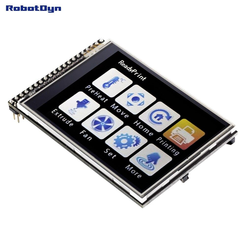 Módulo de pantalla táctil LCD TFT de 2,8 pulgadas, 3,3 V, con tarjeta SD y MicroSD Para Arduino UNO R3 Mega2560 TFT LCD, pantalla de visualización táctil, pantalla táctil de 2,4 pulgadas, módulo LCD, 18 bits, 262.000 pantallas diferentes