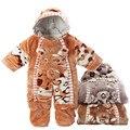 Newborn Baby Girls Mamelucos Boy Ropa de Invierno Polar de Coral de Dibujos Animados Ropa Infantil Meninas traje para la Nieve de Los Bebés Animales JumpsuitB0122