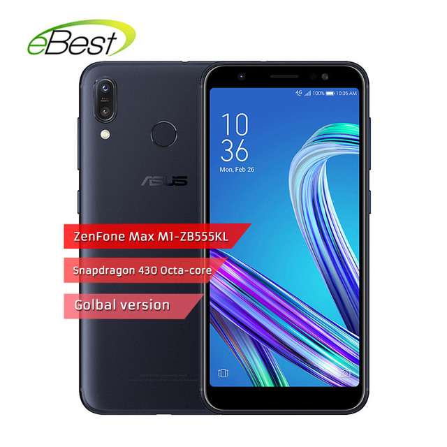 Russian version ASUS ZenFone Max M1 ZB555KL Smartphone 5.5'' Snapdragon 430 Octa core 3GB RAM 32GB ROM 4000mAh Mobile Phone