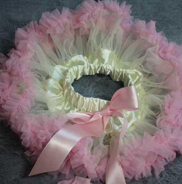 Розового цвета и цвета слоновой кости ребенка юбка детские юбки-американки для маленьких девочек пачка фотографии - Цвет: Розовый